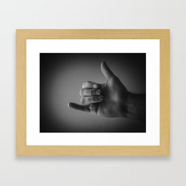 All Right. Framed Art Print
