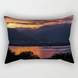 Locarno and Ascona at sunset Rectangular Pillow