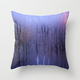 Purple Condensation Throw Pillow