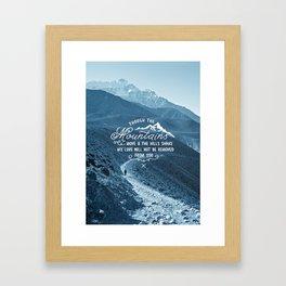 NOT SHAKEN Framed Art Print