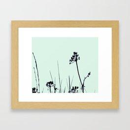 SEA PLANTS GREEN&BLACK Framed Art Print