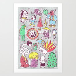 Yokai / Japanese Supernatural Monsters Art Print