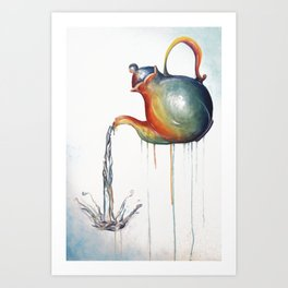 Rainbow Tea Art Print