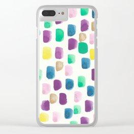 The Purple Dream Cloud Clear iPhone Case