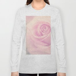 Vintage rose - Beautiful lightpink flower - Roses Long Sleeve T-shirt