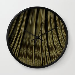 Gold and Black Fractal Wall Clock