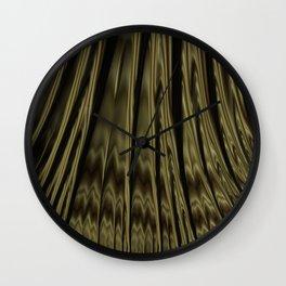 Gold and Black Fractal Wall Clock