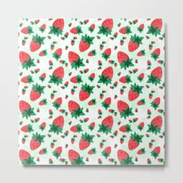 Strawberries Time Metal Print