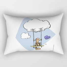 Squirrel swinging on a cloud Rectangular Pillow
