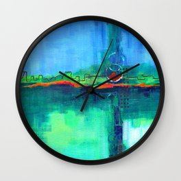 Passing Storms Wall Clock