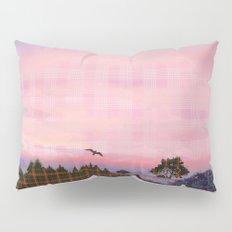 Plaid Landscape Tranquil Sunset Pillow Sham