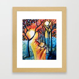 Autumn Sunset Framed Art Print