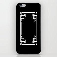 Black White Lattice Frame iPhone Skin