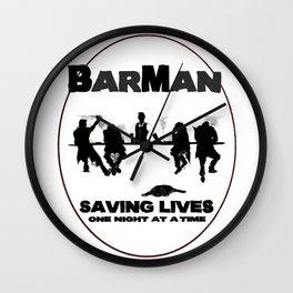 BarMan Wall Clock