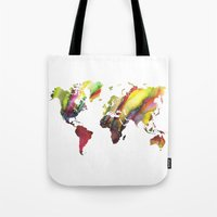 new order Tote Bags featuring World Map new order by jbjart