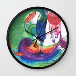 an ocean of color (pointillism) Wall Clock