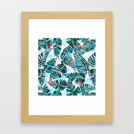 Lani Kai Leaf Green Framed Art Print