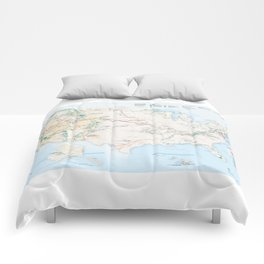 National Parks Trail Map Comforters