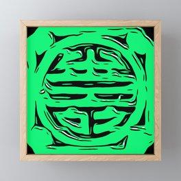 Floor Series: Mosaic of Life - Green Framed Mini Art Print
