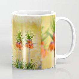 Orange lily flowers Fritillaria imperialis Coffee Mug