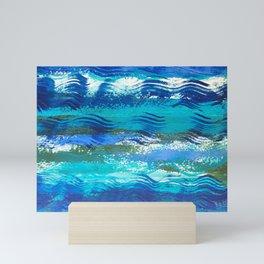 Blue Waves 1 Mini Art Print
