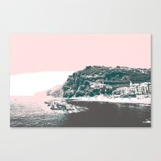 village by the sea. Canvas Print