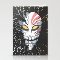 bleach Stationery Cards featuring Bleach Hollow Mask by MadameAce