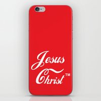 christ iPhone & iPod Skins featuring JESUS CHRIST by The Fugu Project