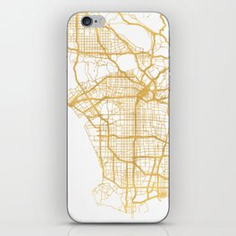 LOS ANGELES CALIFORNIA CITY STREET MAP ART iPhone Skin