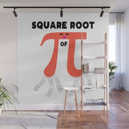 Square Root Of PI Day 2019 Math Teacher Wall Mural