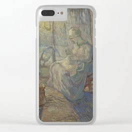 Vincent Van Gogh - Night after Millet Clear iPhone Case