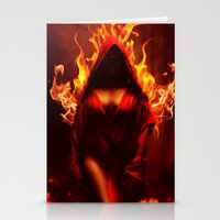 dark souls Stationery Cards featuring burning souls by Iridescent cloud