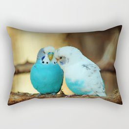 Lovely Pair Of Budgies Rectangular Pillow
