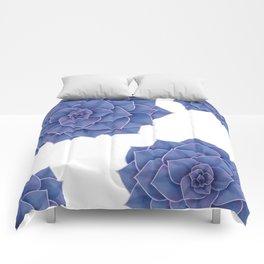 Elegant Big Purple Echeveria Design Comforters
