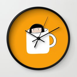 Hiding in a Tea Cup Wall Clock