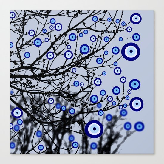 Evil Eye Tree Canvas Print