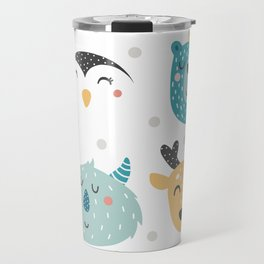 Baby Animals - Fantasy and Woodland Creatures Pattern Travel Mug