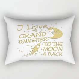 I Love My GrandDaughter to the Moon and Back Rectangular Pillow