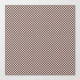 Root Beer and White Polka Dots Canvas Print