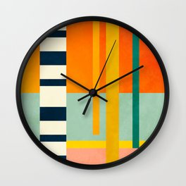 trees with tropical sun Wall Clock