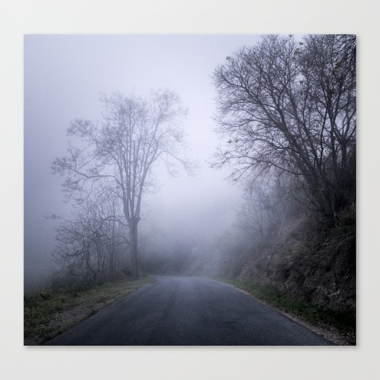 """Mountain road"". Into the woods. Canvas Print"