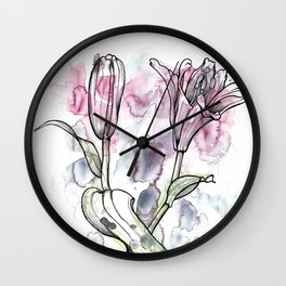 BW DAY LILY Color Splash 1 Wall Clock