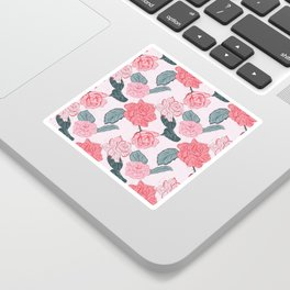 Roses and leaves Sticker