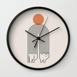 Cat Landscape 94 Wall Clock