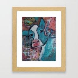 Fly Friend, Mixed Media Artwork Framed Art Print