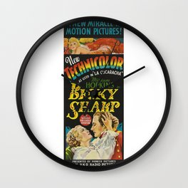 Vintage Movie Posters, Becky Sharp Wall Clock