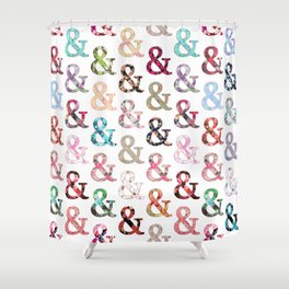 Floral Ampersand Shower Curtain