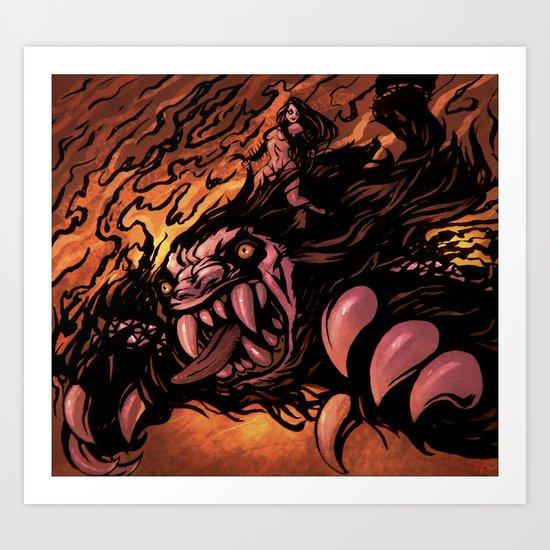 Zaulian Beast Art Print