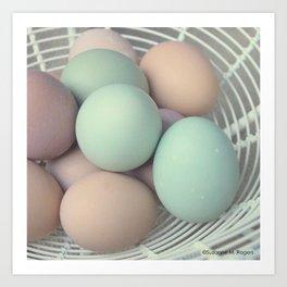 Fresh Basket of Hen Eggs, No. 4 Art Print