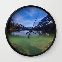 Boom Lake Reflection Wall Clock
